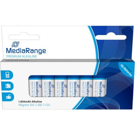 Pilhas Mediarange Alcalinas LR6 (AA) - Pack 10