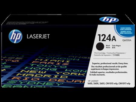 Toner HP LaserJet Original 124A Preto (Q6000A)