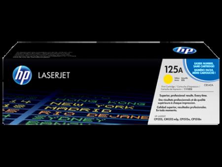 Toner HP LaserJet Original 125A Amarelo (CB542A)