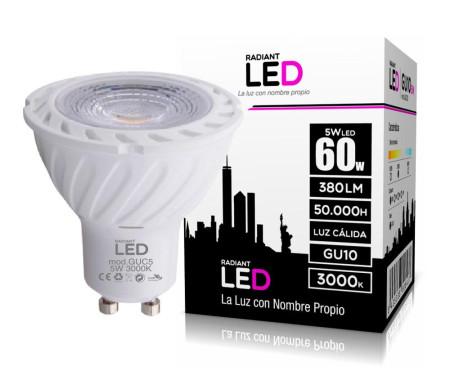 Lâmpada LED GU10 5W 3000K Luz Quente 380 Lúmens Radiant LED