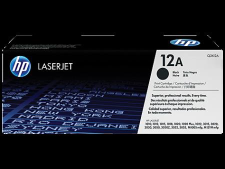 Toner HP LaserJet Original 12A Preto (Q2612A)