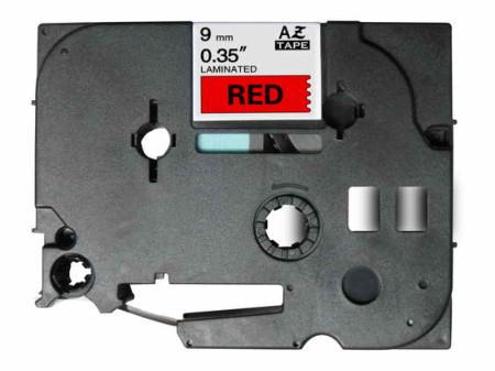 Fita Laminada Compatível Brother TZE-421 - 9mm x 8 metros Preto/Vermelho