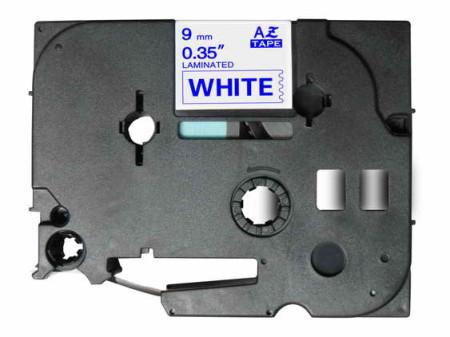 Fita Laminada Compatível Brother TZE-223 - 9mm x 8 metros Azul/Branco