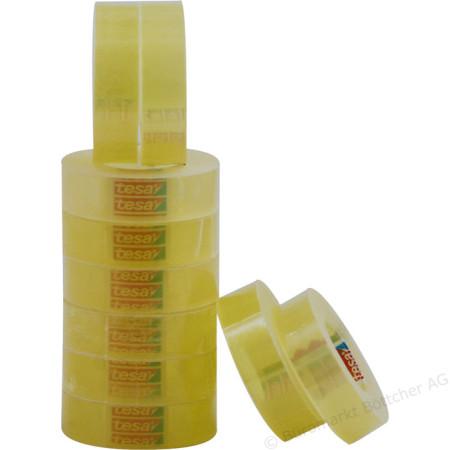 Fita Adesiva Transparente Tesa 15mm x 33 metros - Pack 10