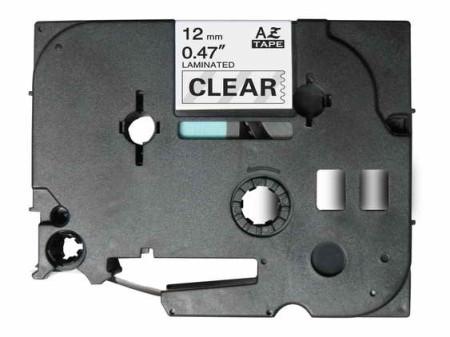 Fita Laminada Compatível Brother TZE-131 - 12mm x 8 metros Preto/Transparente