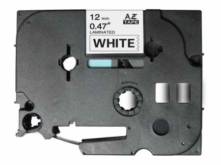Fita Laminada Compatível Brother TZE-231 - 12mm x 8 metros Preto/Branco