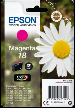 Tinteiro Epson 18 Magenta Original Série Margarida (C13T18034012)