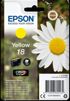 Tinteiro Epson 18 Amarelo Original Série Margarida (C13T18044012)