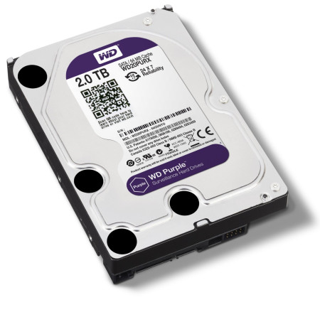 Disco Rígido Western Digital Purple 2TB 3.5´ 64MB Cache (WD20PURZ)