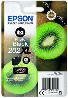 Tinteiro Epson 202 XL Preto Fotográfico Original Série Kiwi (C13T02H14010)