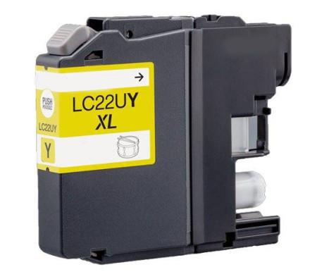Tinteiro Brother Compatível LC22U Y XL Amarelo