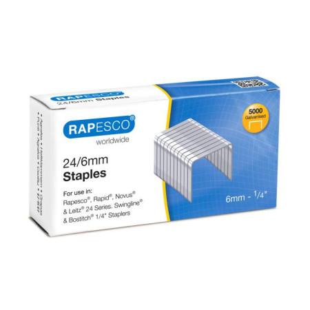 Agrafes Rapesco galvanizados - 24/6 - 5000 unidades
