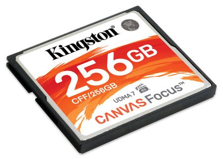 Cartão Kingston Canvas Compact Flash 256GB