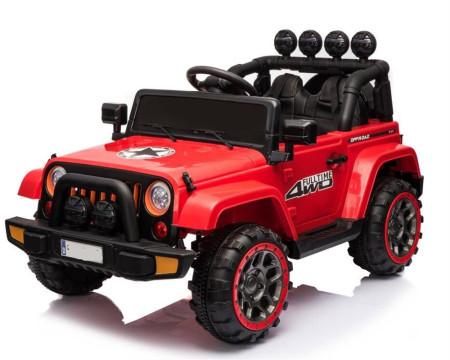 Carro Elétrico Jeep FullTime 4x2 12V Bateria c/ Comando Vermelho