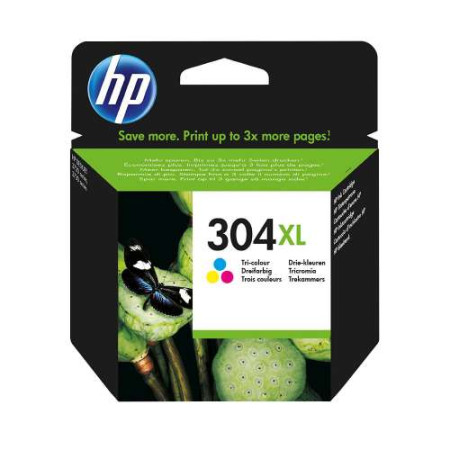 Tinteiro HP 304 XL Original Tricolor (N9K07AE)