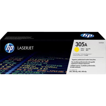 Toner HP LaserJet Original 305A Amarelo (CE412A)