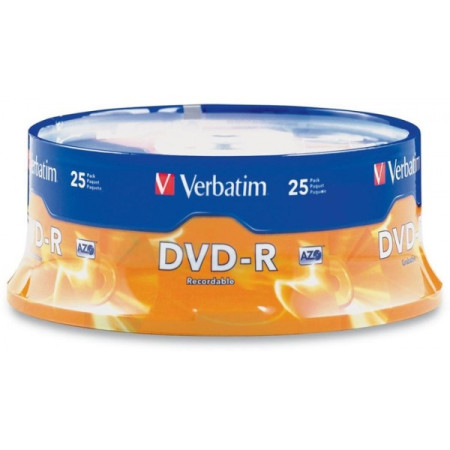 DVD-R Verbatim 16X - Pack 25   - ONBIT