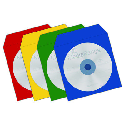 Bolsas Papel Colorido para CD/DVD individuais - Pack 100