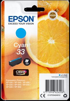 Tinteiro Epson 33 Azul Original Série Laranjas (C13T33424012)