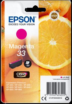 Tinteiro Epson 33 Magenta Original Série Laranjas (C13T33434012)