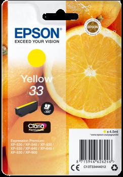 Tinteiro Epson 33 Amarelo Original Série Laranjas (C13T33444012)