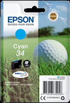 Tinteiro Epson 34 Azul Original Série Bola de Golfe (C13T34624010)
