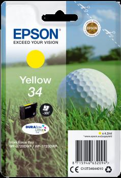 Tinteiro Epson 34 Amarelo Original Série Bola de Golfe (C13T34644010)