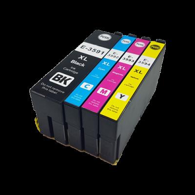 Conjunto 4 Tinteiros Epson 35 XL Compatíveis - ref. T3591/2/3/4