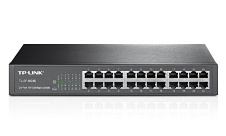 TP-Link Switch de 24 portas 10/100Mbps TL-SF1024D   - ONBIT