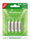Pilhas Mediarange Recarregáveis AAA|HR03 1.2V - Pack 4   - ONBIT