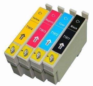 Conjunto 4 Tinteiros Epson 18 XL - ref. T1811/2/3/4 (T1815)   - ONBIT