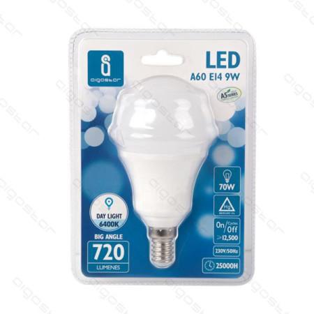 Lâmpada LED E14 9W 6400K Luz Fria A5 A60 Aigostar