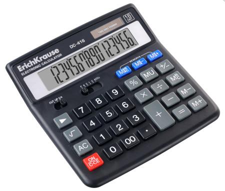 Calculadora electrónica 16 dígitos DC-416 ErichKrause  EK 37072 - ONBIT