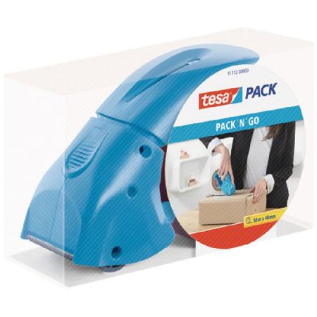 Dispensador manual de fita Tesa Pack n Go azul 171 x 68 x 115 mm