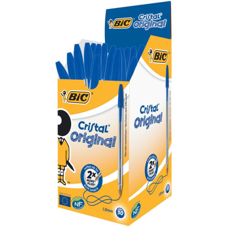 Esferográfica Ball Point BIC Cristal Azul - Pack 50