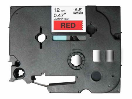 Fita Laminada Compatível Brother TZE-431 - 12mm x 8 metros Preto/Vermelho