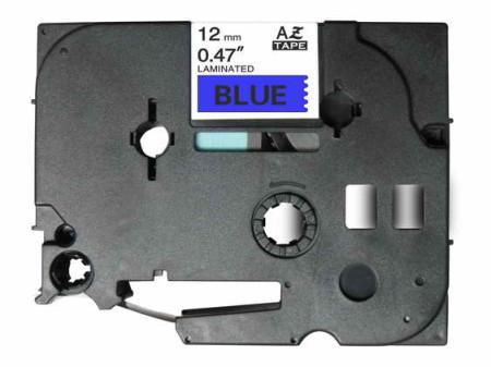 Fita Laminada Compatível Brother TZE-531 - 12mm x 8 metros Preto/Azul