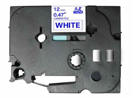 Fita Laminada Compatível Brother TZE-233 - 12mm x 8 metros Azul/Branco