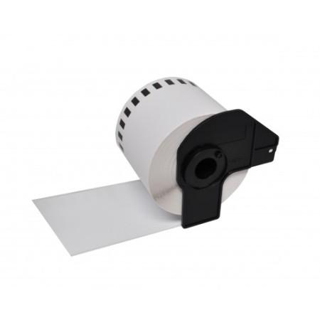 Etiquetas Compativeis Brother DK44205 Branca - 62mm x 30.48mm Contínua Removível Papel térmico
