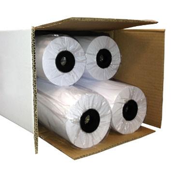 Rolo de Papel Plotter A1 610mm x 50 metros - Pack 4 unidades