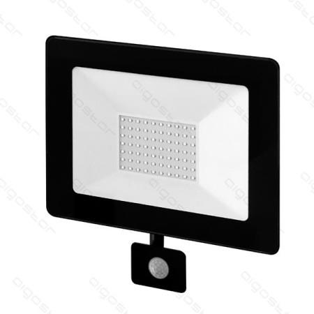 Foco Projector LED 50W c/ Sensor Movimento 4000K Luz Natural 4500 Lúmens IP65 Aigostar