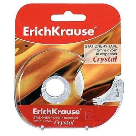 Fita adesiva cristal com desenrolador - Erichkrause - 25X12   - ONBIT