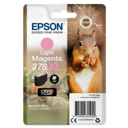 Tinteiro Epson 378 XL Magenta CLARO Original Série Esquilo (C13T37964010)