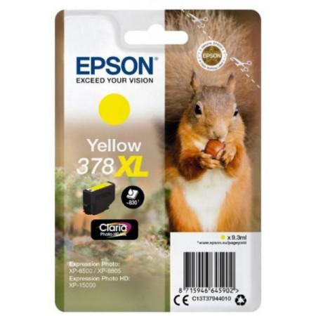 Tinteiro Epson 378 XL Amarelo Original Série Esquilo (C13T37944010)