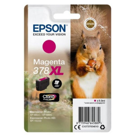 Tinteiro Epson 378 XL Magenta Original Série Esquilo (C13T37934010)