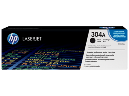 Toner HP LaserJet Original 304A Preto (CC530A)
