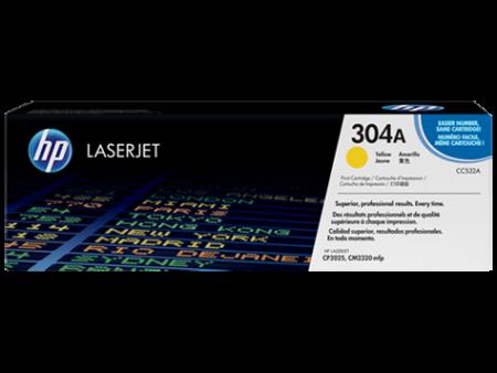 Toner HP LaserJet Original 304A Amarelo (CC532A)