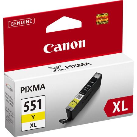 Tinteiro Canon CLI-551 Y XL Amarelo Original (6446B001)
