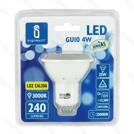 Lâmpada LED A5 GU10 6W 3000K Luz Quente 390 Lúmens Aigostar