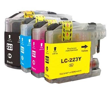 Conjunto 4 Tinteiros Compatíveis Brother LC221 / LC223 (V2)   - ONBIT